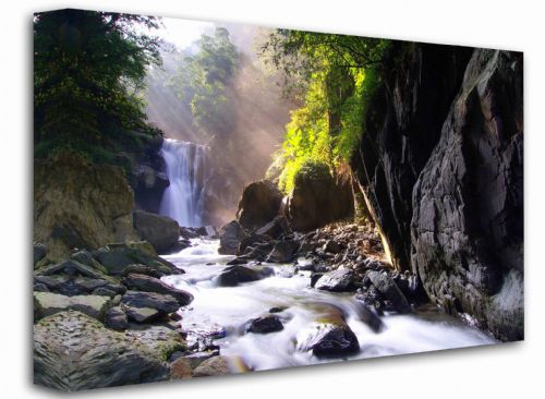 Waterfall Scapes New  Canvas Framed Wall Art
